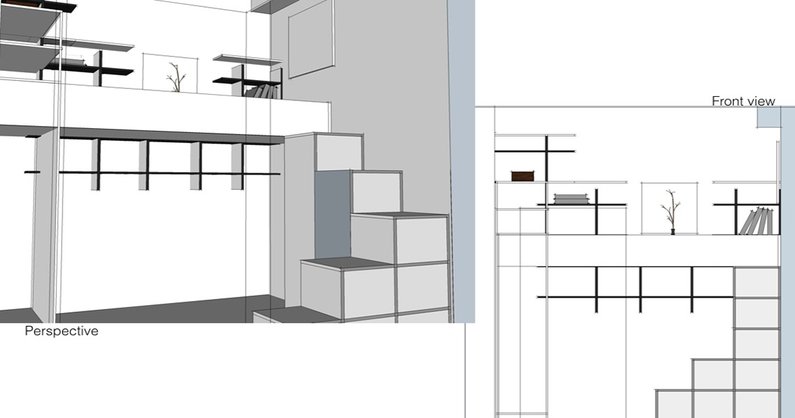 bunk bed with storages