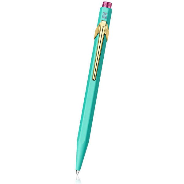 Caran d'Ache Luxury green and gold metal pencil