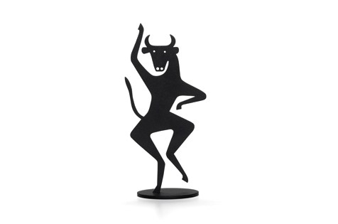 black and metal bull accessory by Vitra