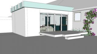 Design of a rear house extension