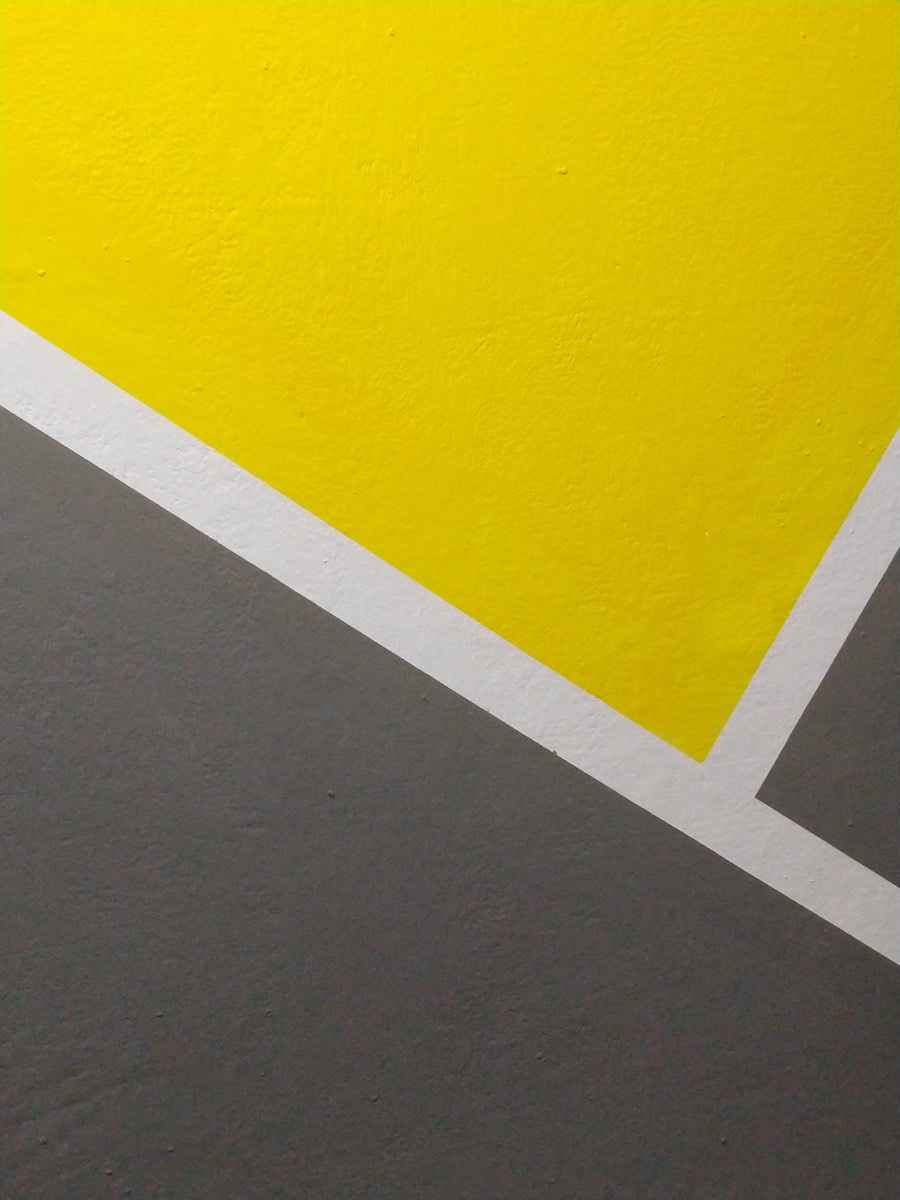Geometric application paint on the wall.